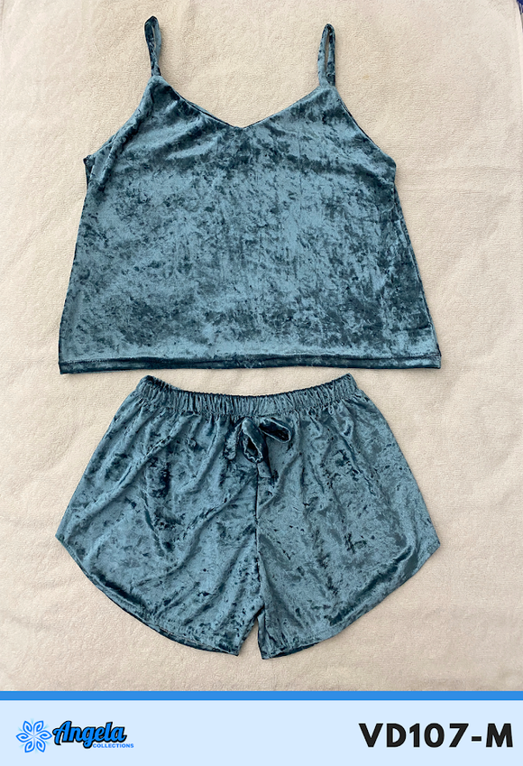 Angela Collections Dolphin Velvet Short and Top, VD107