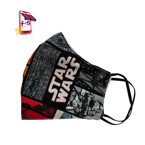 Annaella Printed Washable Face Mask, StarWars Design, Double Layer Cloth