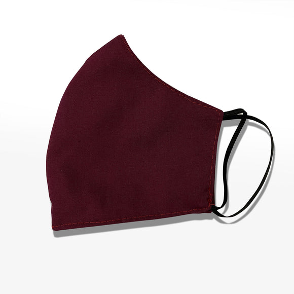 Annaella Kids Washable Face Mask, Double Layer Cloth, Maroon Color