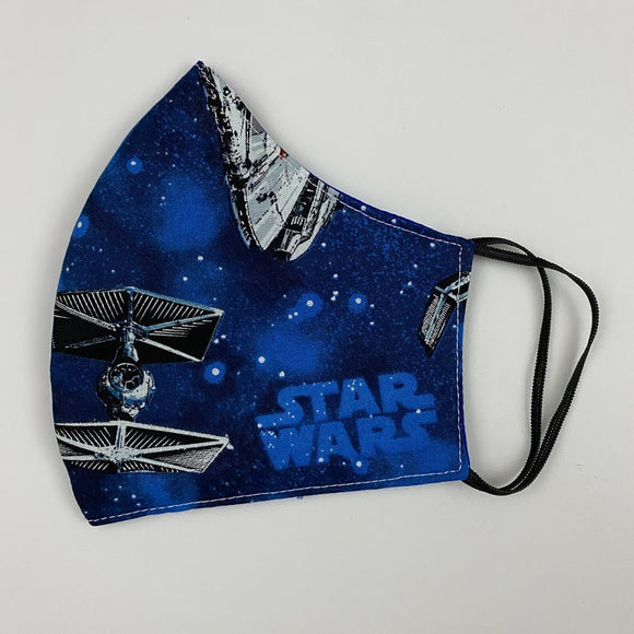 Annaella Printed Washable Face Mask, Starwars Blue Design, Double Layer Cloth