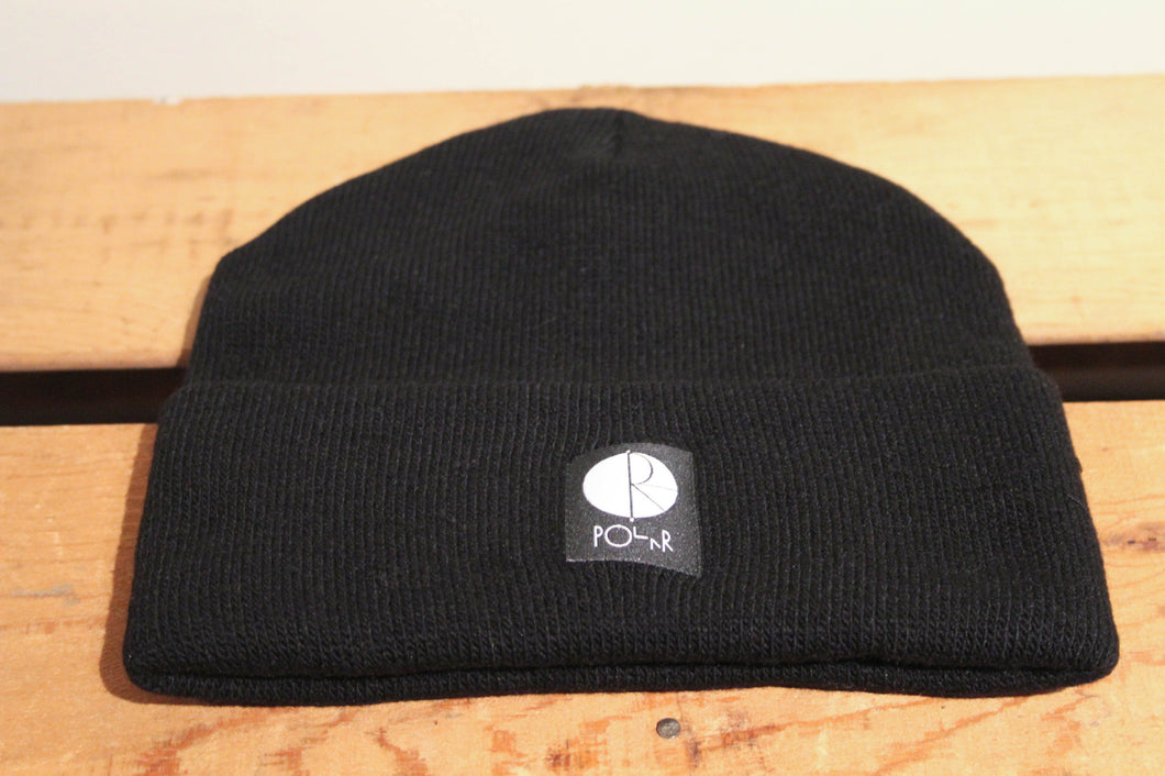 POLAR SKATE CO - FILL LOGO BEANIE HAT - BLACK