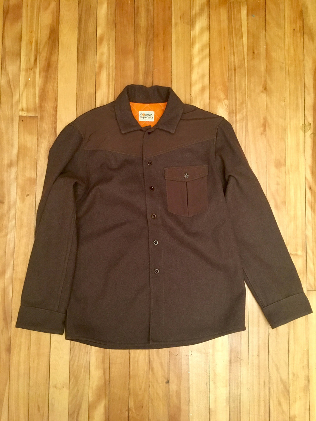 Wrangler Wool shirt (brown)