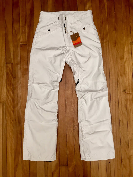 white snowboard pants 111 Owner Operator made in USA