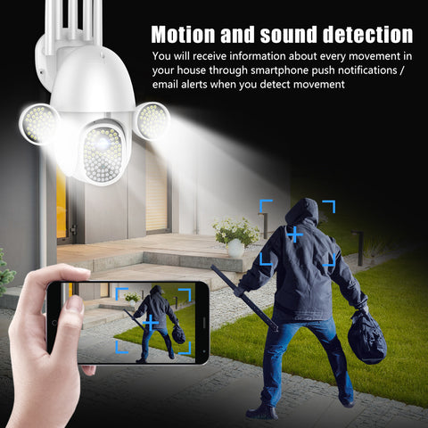 Bright LED light scare people away