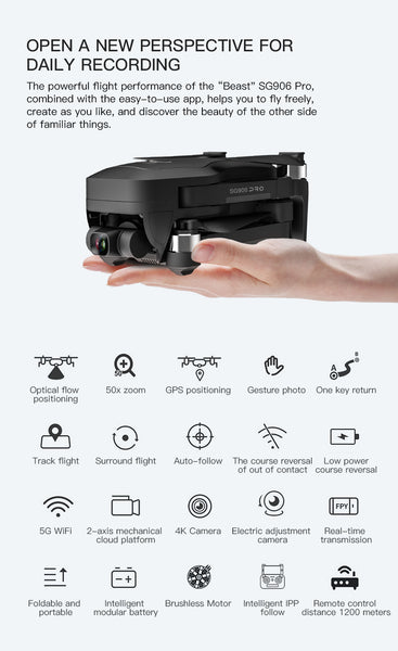 SG906 Pro Beast Drone specifications on this drone and features