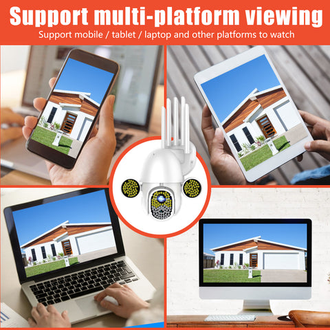 wireless control of the security camera