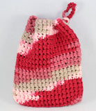 Crochet All Cotton Soap Saver Washcloth made by Jim Pink/Red