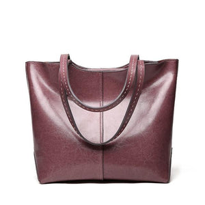 Hallinsk Signature Genuine Leather Handbag