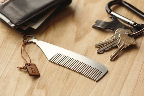 Burton and Levy stainless steel and brass beard and mustache combs for men of all ages