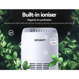 Devanti Air Purifier Desktop Purifiers HEPA Filter Home Freshener Carbon Ioniser