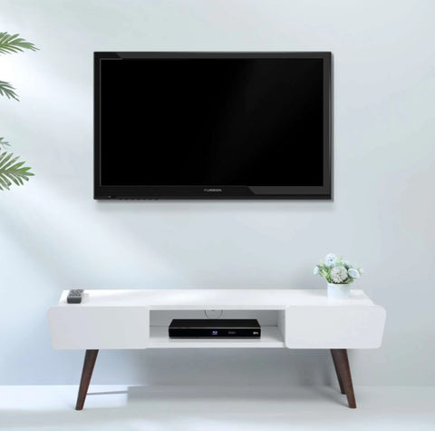 Eclectic – White TV Stand TV Unit With Legs