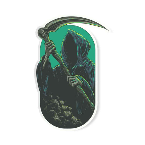 The Grim Reaper Of Death Sticker | STICK IT UP