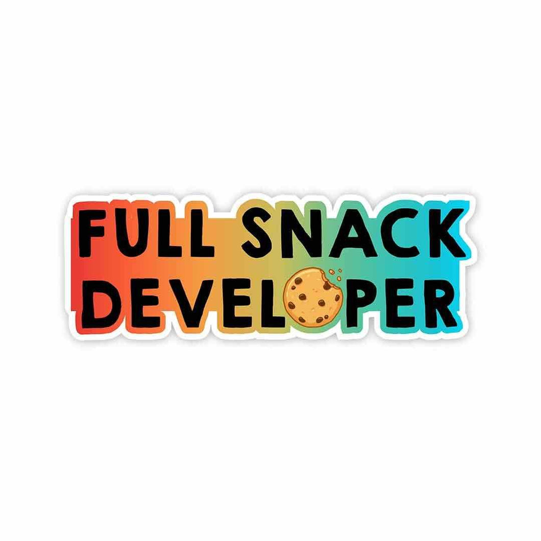 Full Snack Developer Sticker | STICK IT UP