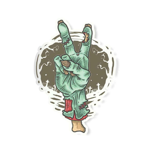 Peace out -Zombie Sticker | STICK IT UP