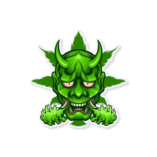 Weed Monster Sticker - StickIt Up