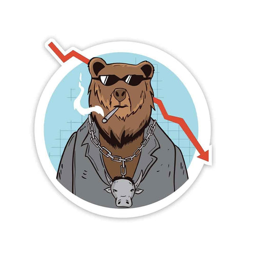 Trading Bear Sticker | STICK IT UP