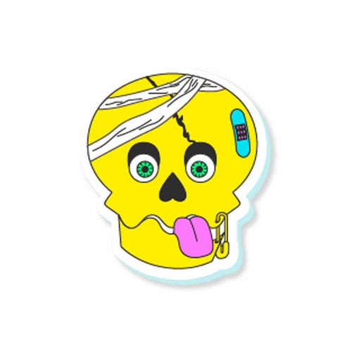Broken Skull Sticker | STICK IT UP