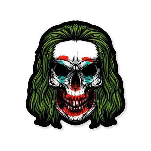Zombie Joker Sticker - StickIt Up