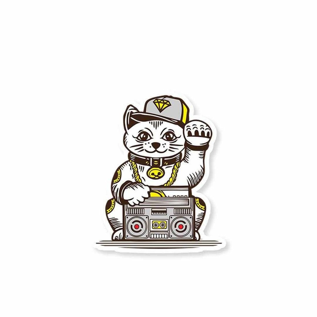 Hip-Hop Cat Sticker | STICK IT UP