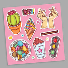 Load image into Gallery viewer, The Happy Place Stickers Sheet | STICK IT UP