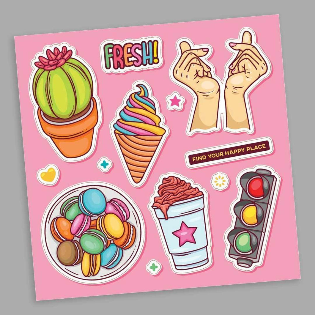 The Happy Place Stickers Sheet | STICK IT UP