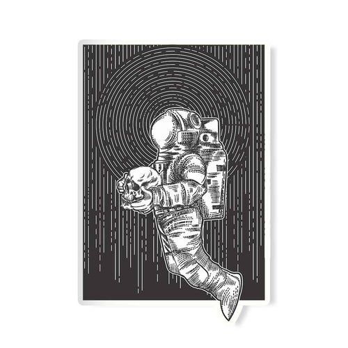 Spaceman Skull Sticker | STICK IT UP
