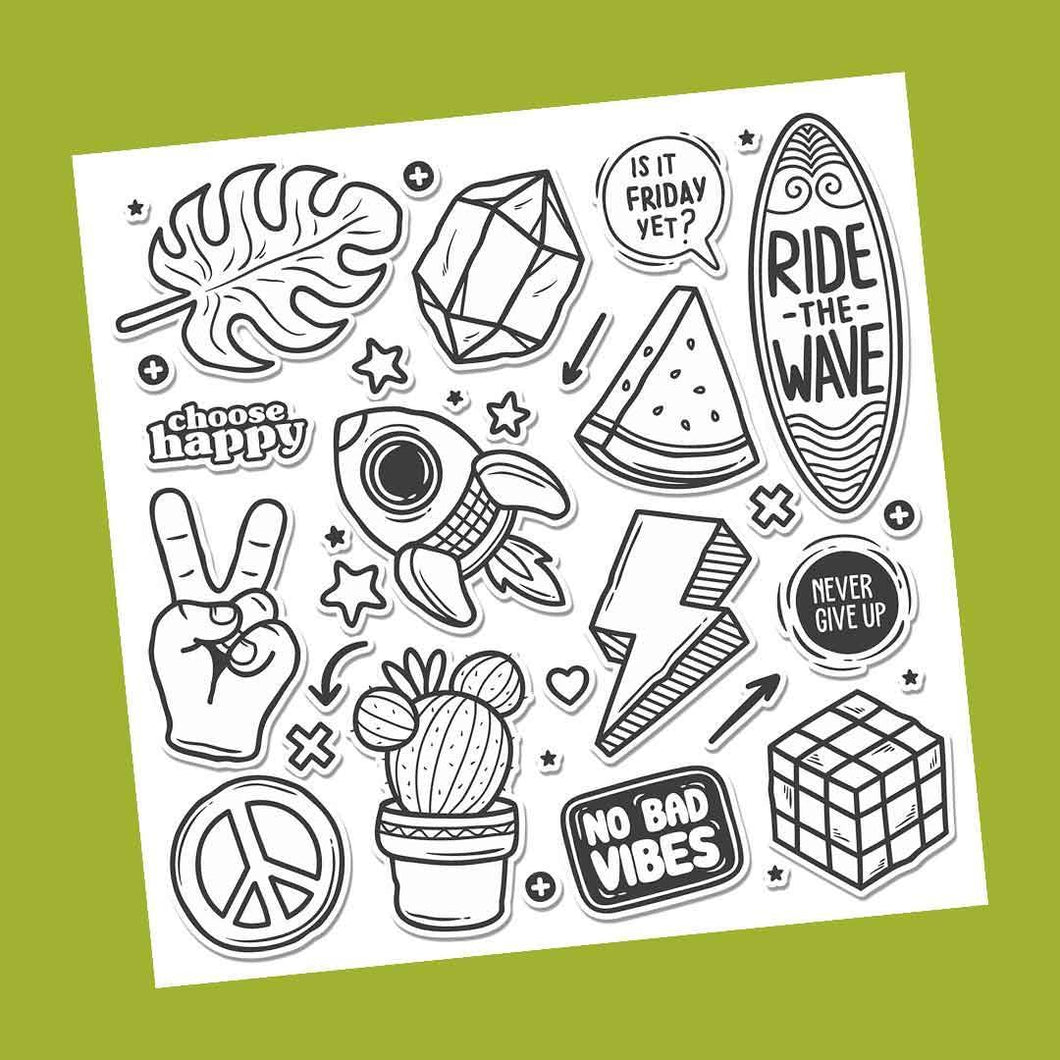 The Choose Happy Sticker Sheet | STICK IT UP