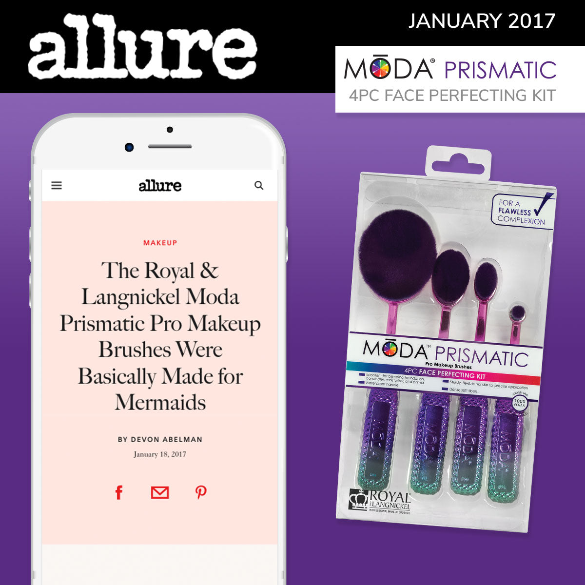 Allure Spotlight on our Moda Prismatic Face Perfecting Kit