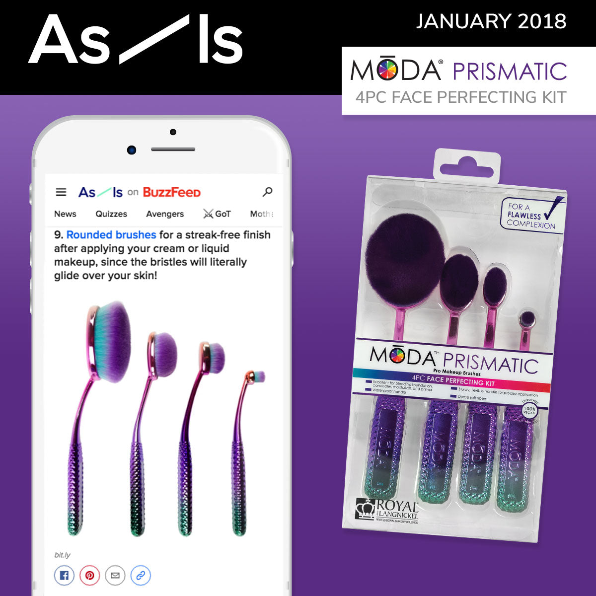 As-Is Spotlight on our MODA® Prismatic Face Perfecting Kit