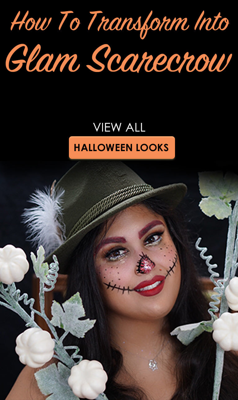 Halloween Looks Scary.How To Transform Into Glam Scarecrow Halloween Looks 2018