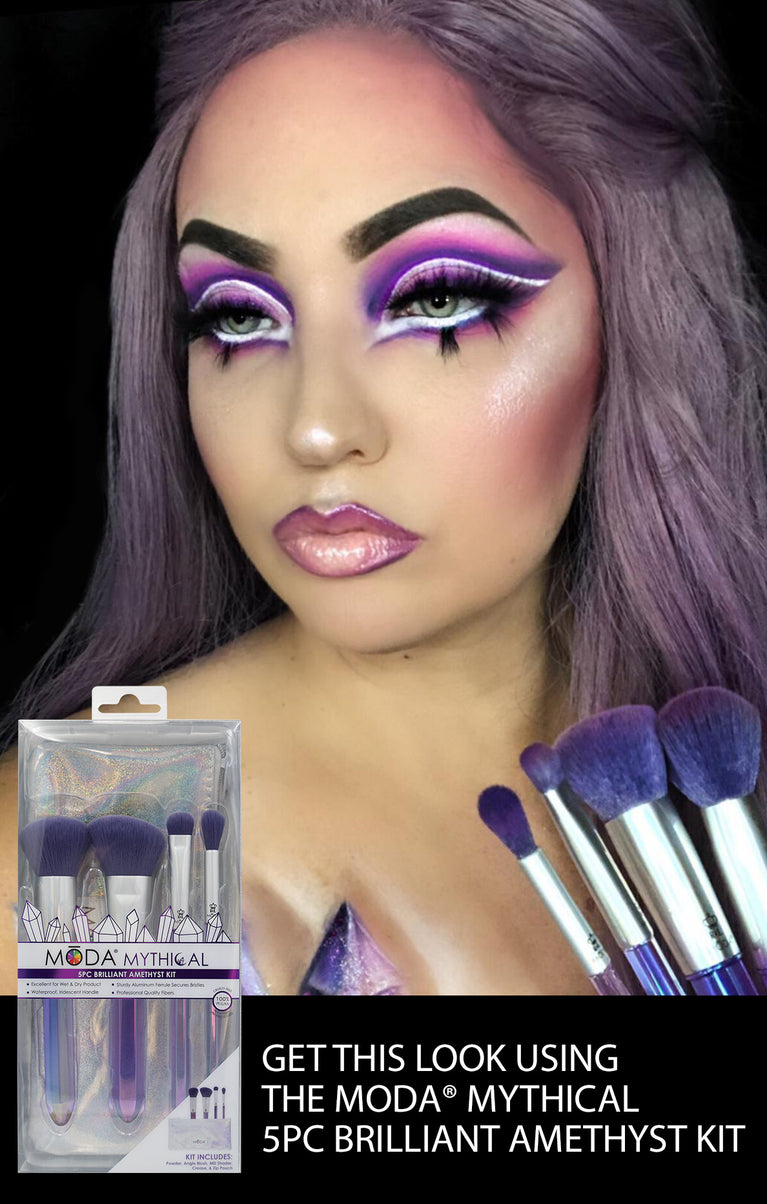 Get this look using the MŌDA® Mythical 5PC Brilliant Amethyst Kit