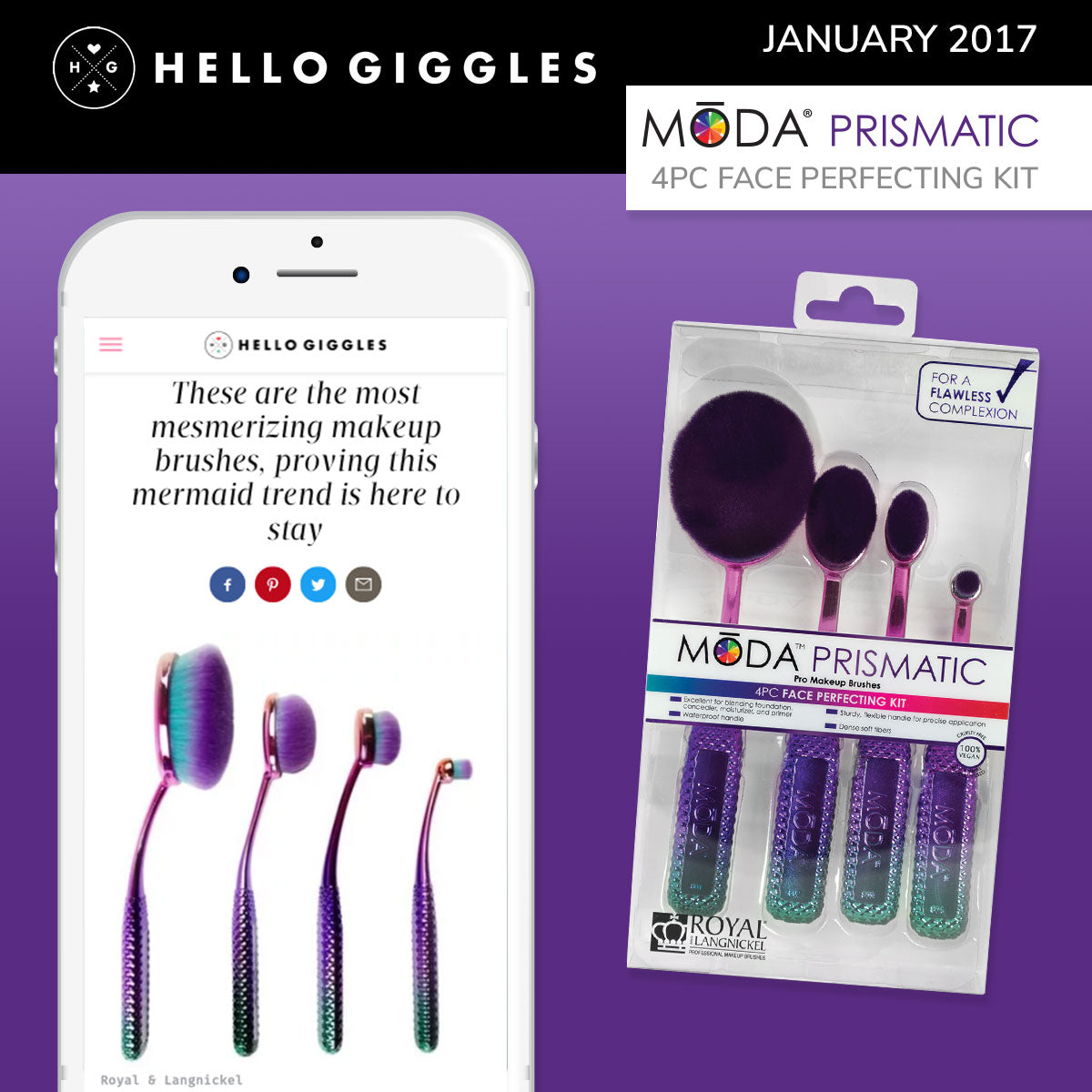 Hello Giggles Spotlight on our Moda Prismatic Face Perfecting Kit