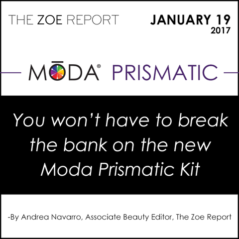The Zoe Report Spotlight on our Moda Prismatic Face Perfecting Kit