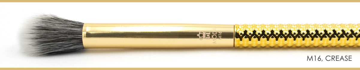 The Gold Standard! M16 Falsie Fan- MŌDA® Metallics Professional Makeup Brushes