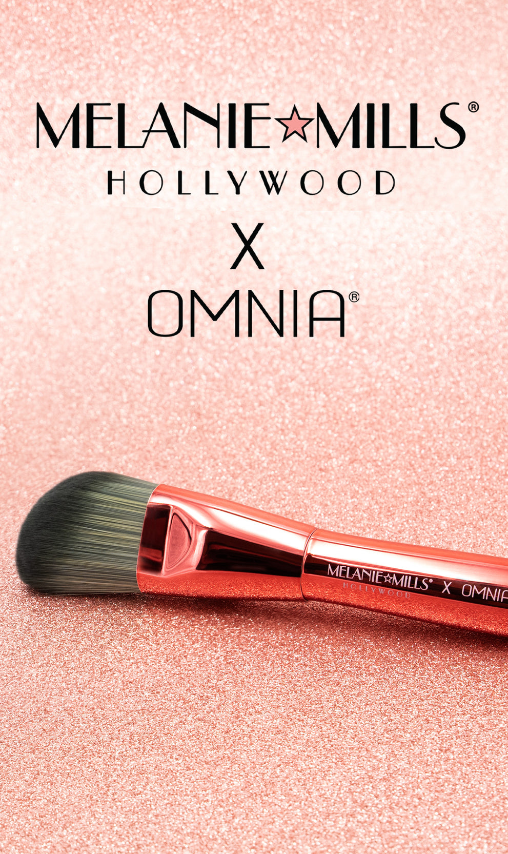 Melanie Mills x OMNIA® Professional Makeup Brushes