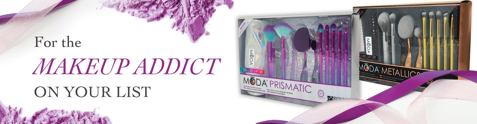 For the makeup addict on your list - MODA Deluxe Gift Kits