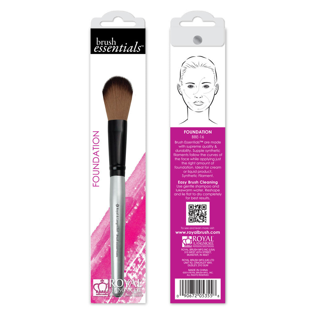 Brush Essentials™ Foundation retail packaging