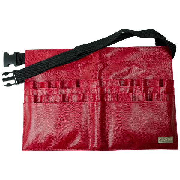 BBELT-10 - Red Leatherette 28-Compartment Brush Belt