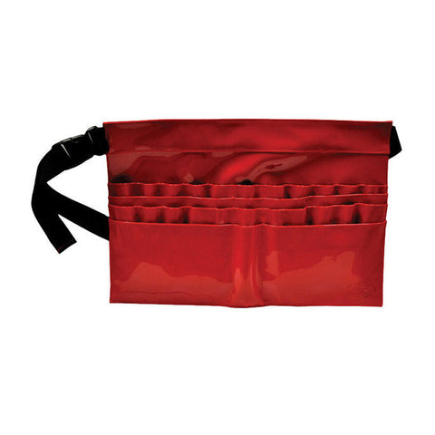 28-Compartment Red Brush Belt