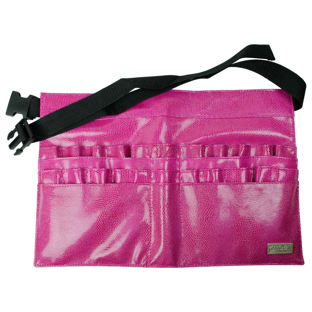 Pink Leatherette 28-Compartment Brush Belt