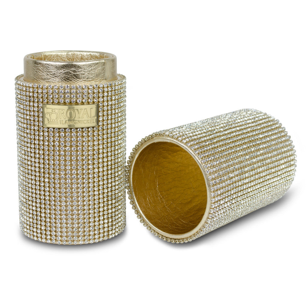 Gold Gem Brush Containter BBOX-GLD