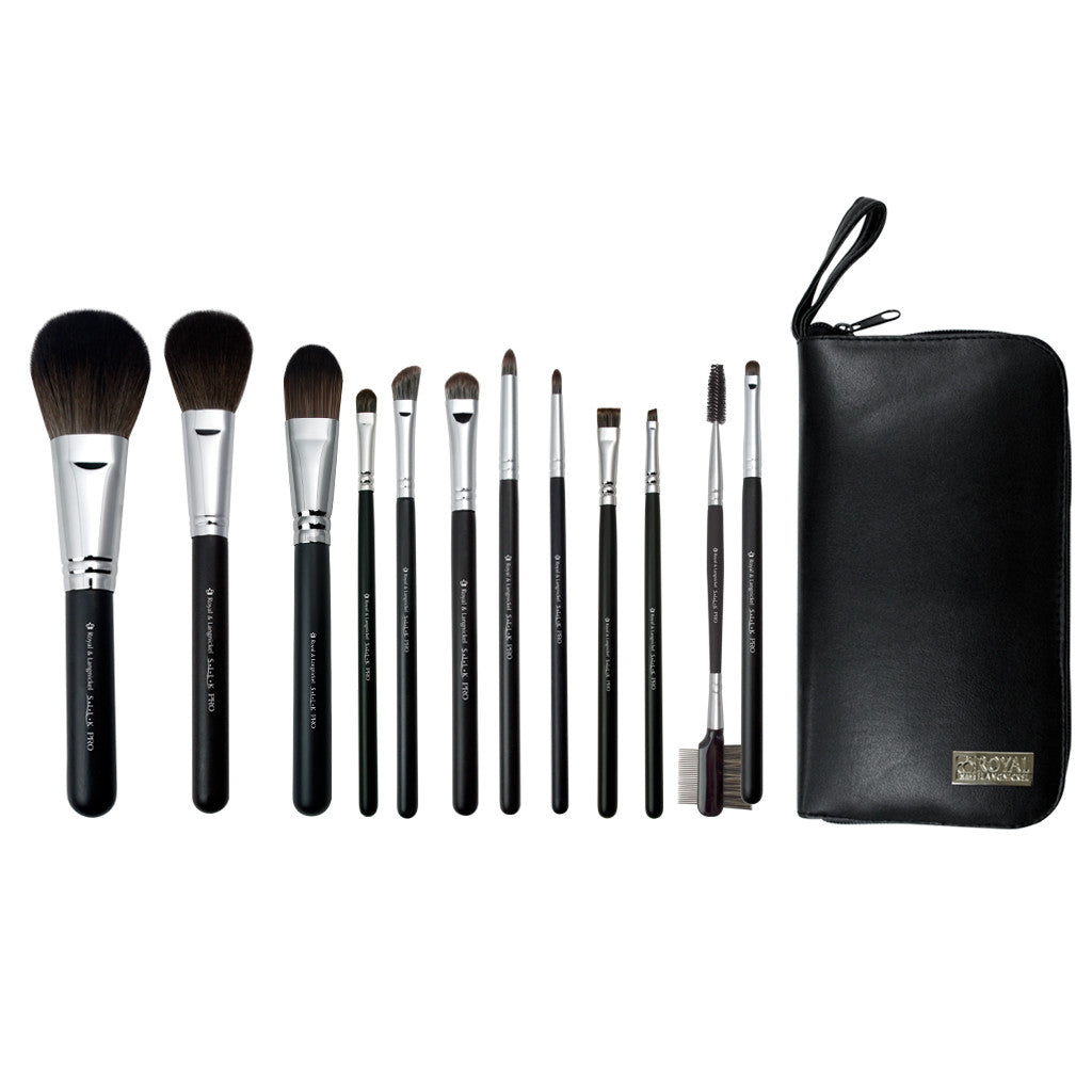 S.I.L.K® TRAVEL Synthetic 13pc Kit Makeup Brushes and Zippered Travel Case