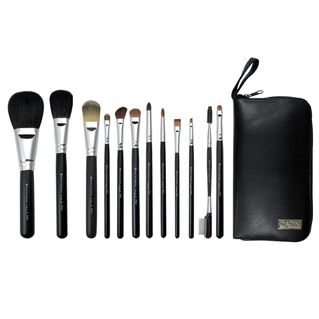 S.I.L.K® TRAVEL Natural 13pc Kit Makeup Brushes and Zippered Travel Case