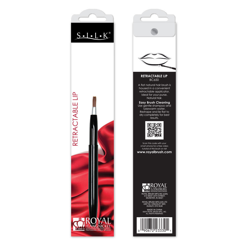 S.I.L.K® Retractable Lip retail packaging
