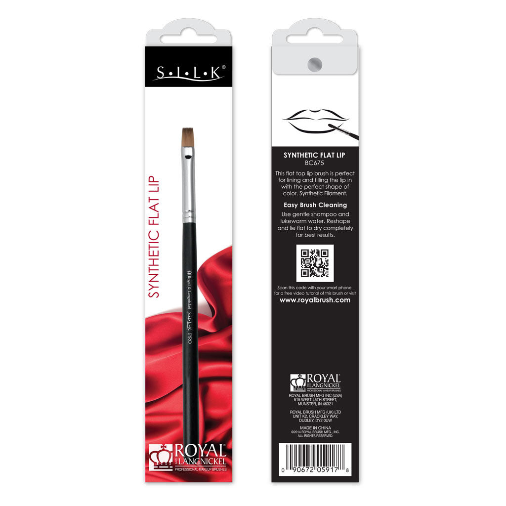 S.I.L.K® Synthetic Flat Lip retail packaging