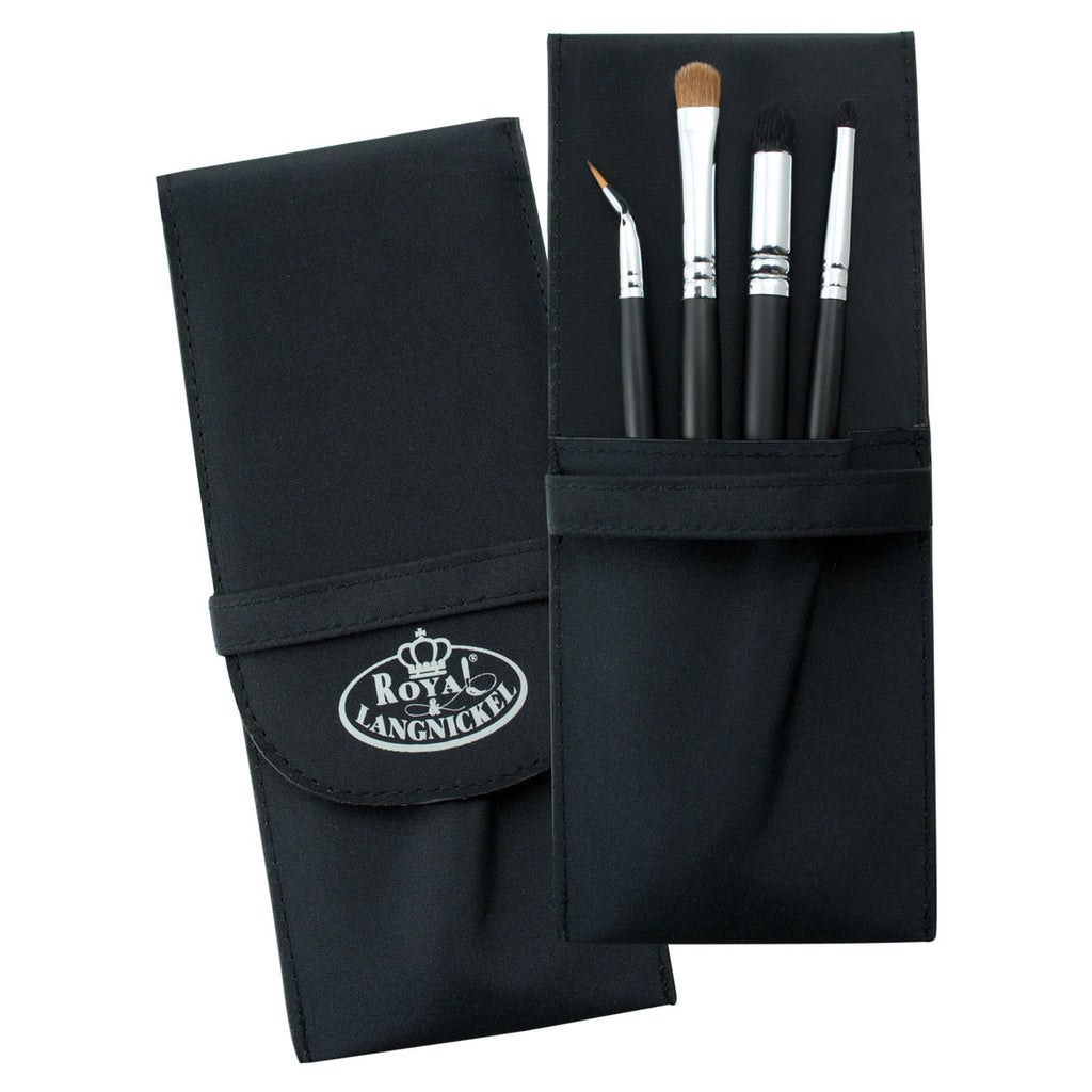 S.I.L.K® NATURAL 5pc Eye Kit Makeup Brushes in Compact Case