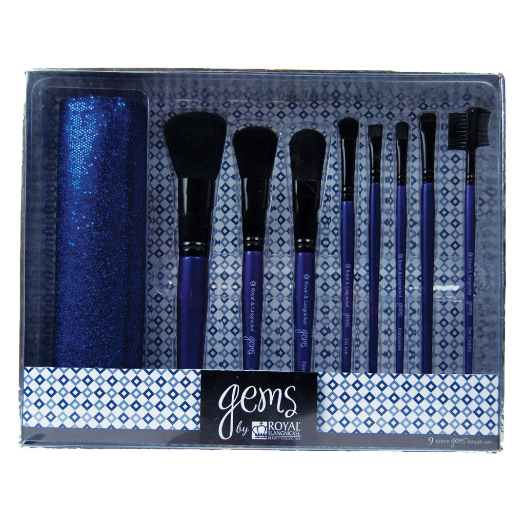 Sapphire Gems™ - 9-piece Brush Kit retail packaging