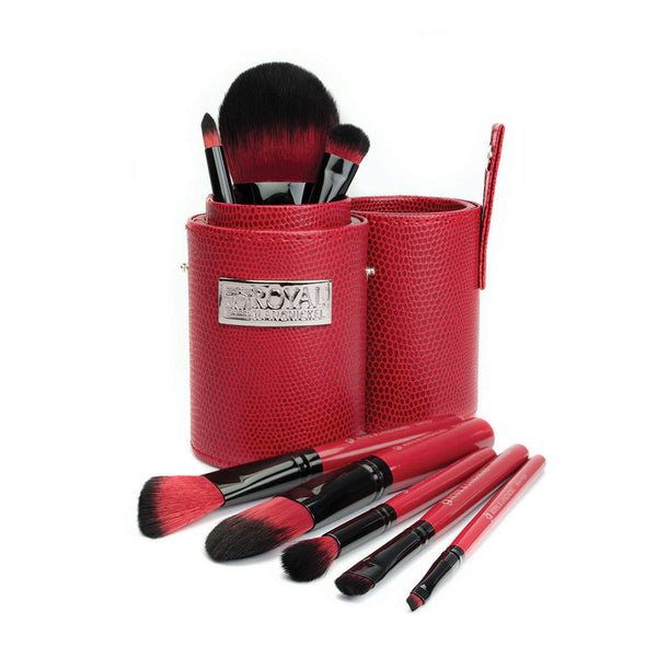 Guilty Pleasures... Lust™ – 9pc Travel Brush Kit Makeup Brushes in Travel Storage Cylinder