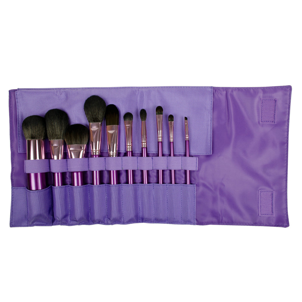 S.I.L.K® Pro Limited Edition 10-piece Brush Kit with brushes in wrap