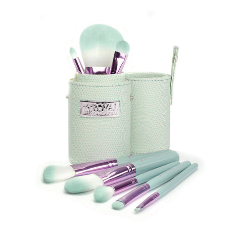 Makeup Brushes in Travel Storage Cylinder